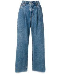 Levi's Jean ample crop à pinces - Bleu