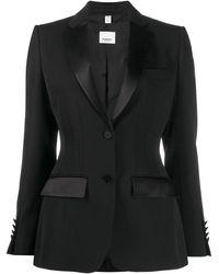 Burberry シングルジャケット - ブラック