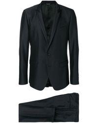 Dolce & Gabbana Einreihiger Anzug - Schwarz