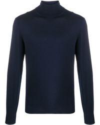 Dell'Oglio タートルネック セーター - ブルー