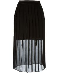 Murmur   - Sheer Pleated Skirt - Women - Cotton/polyester/spandex/elastane - 38   Lyst