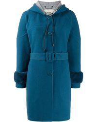 Fendi ベルテッド シングルコート - ブルー