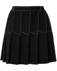 Dion Lee Column Pleat Mini Skirt - Black