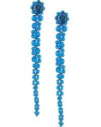 Simone Rocha Ohrring mit Kristallen - Blau
