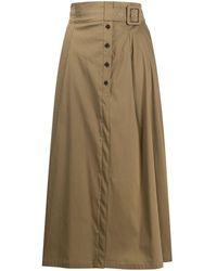 Patrizia Pepe High-waisted Skirt - Naturel