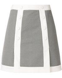 Sara Battaglia - Gingham A-line Skirt - Lyst