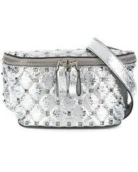 Valentino Garavani Rockstud Spike Belt Bag - Metallic