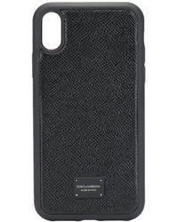 Dolce & Gabbana Coque d'iPhone XR à plaque logo - Noir
