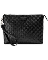 2ce4b4ca6acdc6 Lyst - Gucci Black Snake Tote in Black for Men