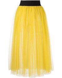 Marchesa notte Noa Tiered Tulle Skirt - Yellow
