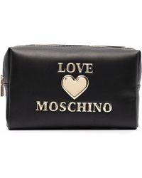 Love Moschino Косметичка С Логотипом - Черный