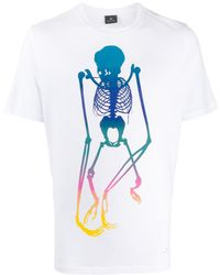 PS by Paul Smith Skeleton プリント Tシャツ - マルチカラー
