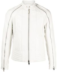 Les Hommes レザージャケット - ホワイト