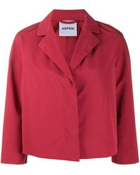 Aspesi Trenetta Box-cut Blazer - Red