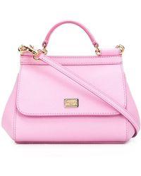 """Dolce & Gabbana Petit sac à main """"Sicily"""" - Rose"""
