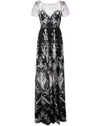 Marchesa notte - Длинное Платье С Вышивкой - Lyst