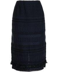 Coohem ツイードスカート - ブルー