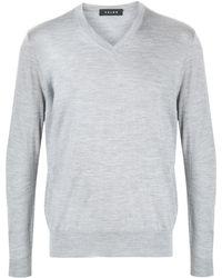 FALKE Vネック セーター - グレー