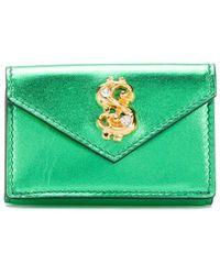 Moschino Porte-monnaie à ornement métallisé - Vert
