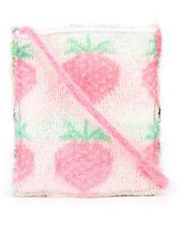 Ashley Williams Strawberry Wool-knit Mini Bag - Multicolour
