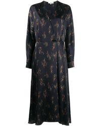 Vince フローラル ドレス - ブラック