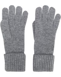 N.Peal Cashmere Cashmere Ribbed Gloves - Grey