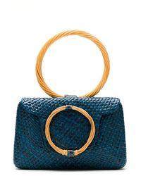 Serpui Straw Hand Bag - Blue