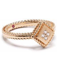 Roberto Coin 18kt Palazzo Ducale Rotgoldring mit Diamanten - Pink