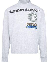 Giuseppe Zanotti Sunday Service Detroit Long-sleeve T-shirt - Grey
