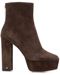Sergio Rossi Platform Ankle Boots - Brown