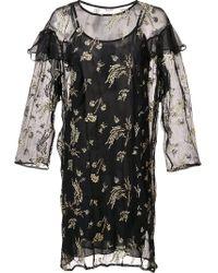 SUNO - Sheer Ruffle Dress - Lyst