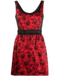 Louis Vuitton フローラル レースドレス - レッド
