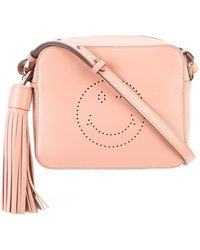 Anya Hindmarch Smiley Crossbody Bag - Pink