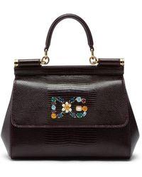 Dolce & Gabbana Маленькая Сумка Sicily С Верхней Ручкой - Пурпурный
