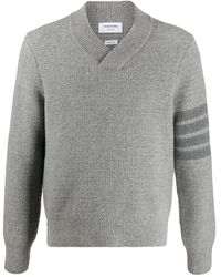 Thom Browne ショールカラー セーター - グレー