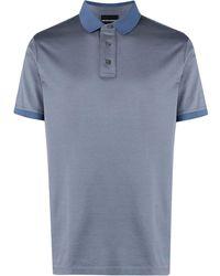 Emporio Armani コントラストカラー ポロシャツ - ブルー