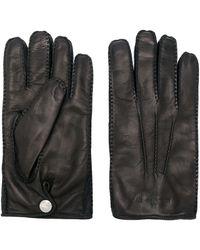 Alexander McQueen Перчатки С Тисненым Логотипом - Черный