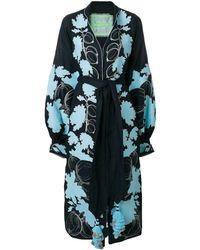 Yuliya Magdych Vestido bordado Gooseberry - Azul