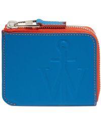 JW Anderson Anchor Logo Wallet - ブルー