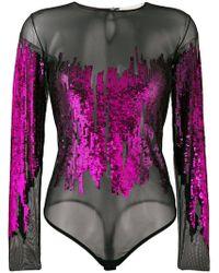Amen Sequin embellished body - Rosa