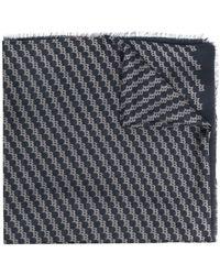Bally ロゴ スカーフ - ブルー
