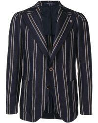 Tagliatore Striped Buttoned Blazer - Blauw