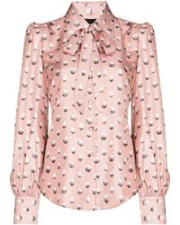 Marc Jacobs Pussy-bow Silk Blouse - Pink