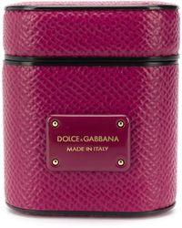 Dolce & Gabbana Tarjetero con logo - Rosa