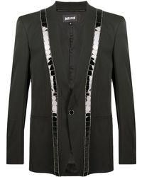 Just Cavalli スパンコール シングルジャケット - ブラック