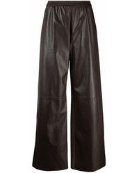 DROMe Pantalon de moto ample - Marron