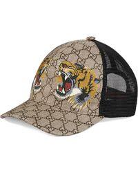 Gucci Cappellino da baseball GG Supreme con stampa serpente - Multicolore