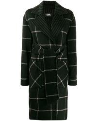 Karl Lagerfeld Пальто В Клетку - Черный