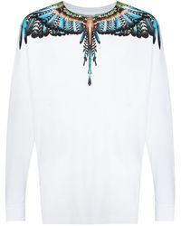 Marcelo Burlon Wings ロングtシャツ - ホワイト
