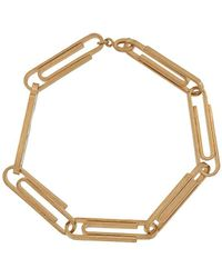 Off-White c/o Virgil Abloh Paper Clip Metal Bracelet - Metallic